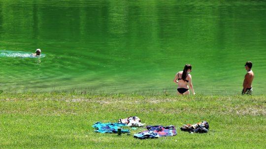 """""""Wir schwimmen wieder"""". Foto: Knut Kuckel / #tirolbayern"""