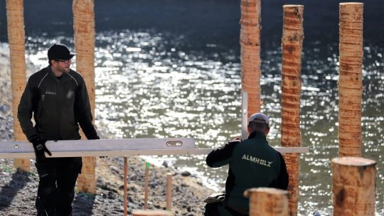 Bau der künftigen Kleinkinderbucht am Badesee in Mieming, Foto: Knut Kuckel