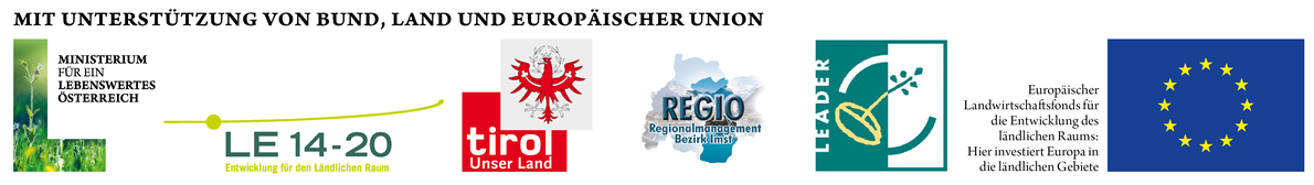 Förderer: Ministerium für ein lebenswertes Österreich, Österreichisches Programm für ländliche Entwicklung 2014-2020, Europäische Kommission, Land Tirol