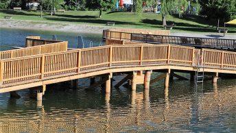 Abenteuerbrücke von Ufer zu Ufer. Foto: Knut Kuckel