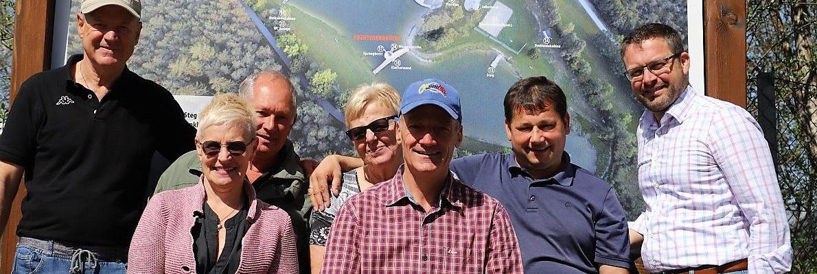 BadeseeMieming-Team - von links: Peter Neuner, Christine Schöpf, Reinhard Wild, Angi Maurer, Alois Kranebitter, Manfred Krug, Martin Kapeller. Foto: Knut Kuckel / BadeseeMieming
