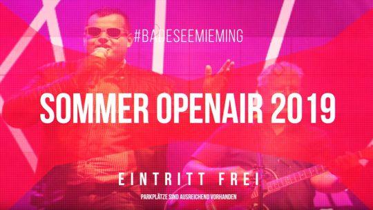 "Rock, Pop, Schlager, Hits - Wir feiern am #BadeseeMieming unser ""Sommer Open Air 2019"". Foto: Andreas Fischer"